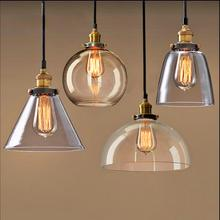 Retro lamps glass pendant lamps vintage hanging light American Loft style bar/restaurants lighting fixture
