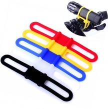 Bike Light Holder Bicycle Handlebar Silicone Strap Band Phone Fixing Elastic Tie Rope Cycle Bicicleta Torch Flashlight Bandages