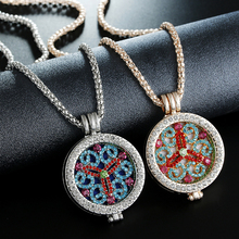 Itenice New Listing Crystal Grapheme E Bohemia Style Can open Double Lays Add Fragrance Tablets Charm Necklace For Friend Gift(China)