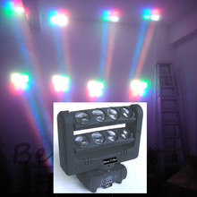 1pc 8x10-Watt led spider Beam bar moving head light/Crazy 8/two tilting bars/Quad-RGBW/DJ/party/disco/ktv/mobile entertainers