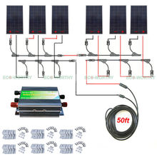 960W 24V Off Grid Solar System Kit 6x 160W Panel 45A Solar Charging Controller(China)