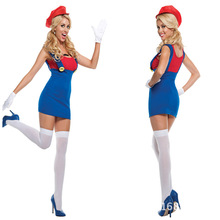 carnival costume Halloween cosplay Super Mario adult woman Masquerade party costumes Christmas costume stage performance dress(China)