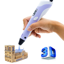 3D pens Myriwell 2nd Generation RP-100B LED Display DIY 3D Printer Pen With 3Color 9M ABS Arts 3d pens For Kids Drawing Tools