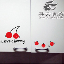 Pattern Poster New Arrival Large Adesivo De Parede Furnishings Sculpture Wall Stickers Cabinet Door Refrigerator Cherry