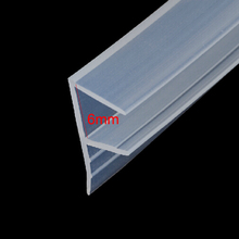 1 meter F shape bath shower room door window silicone rubber glass seal strip weatherstrip for 6mm glass