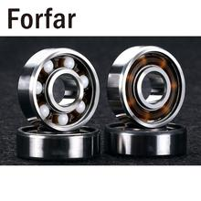 Forfar 8 Pcs/Lot 608RS Ceramic Ball Inline Skates Scooter Wheel Spare Bearings Drift Plate Silver(China)