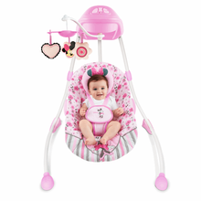Pink Princess Baby Rocking Chair Can Swing Electric Soothe Chair Baby Crib  Cradle Swing Rocking Chair