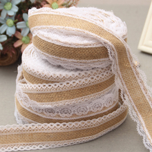 Buy 5M Vintage Lace Linen Roll Rustic Wedding Decoration DIY Christmas Wedding Party Decor Jute Burlap Roll Crafts Pure Handmade for $2.01 in AliExpress store