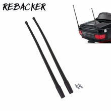 REBACKER 1 Pair Motorcycle Antenna Accessories 13 Inch AM FM XM Radio Antenna Masts For Harley 1985 thru 2013 Touring