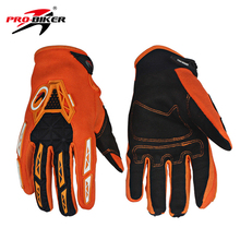 PRO-BIKER Motorcycle Full Finger Gloves Men Women Dirt Bike Cycling MTB Bicycle Gloves Luvas Motocross Off-Road Racing Gloves(China)