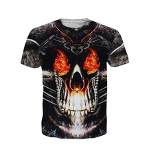 Cloudstyle 3D Printed Skull T-shirt for Men Newest Designs Tees tops Punk Rock Style Cotton T-shirt Plus Size Street boy clothes