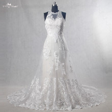 RSW1088 Vestido De Noiva Halter Neckline Mermaid Inside A Line Wedding Dress Lace