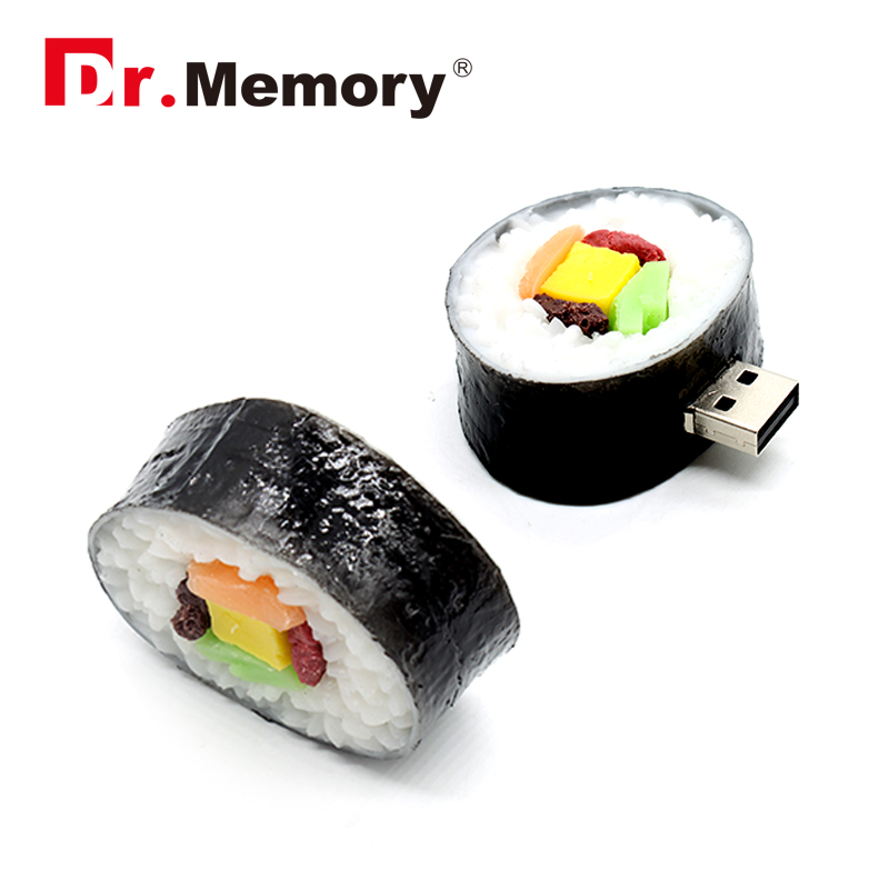 USB flash Drive Japanese sushi food model usb2.0 4G/8G/16G Disk Flash Memory Stick usb creative pen drive 32GB 64GB pendrive(China)