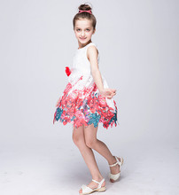 Girl Dress Print Kids Clothes Girls Dresses With Flower Girl Party Dress Costume For Kids 3 4 5 6 7 8 Years Girls Summer Wear