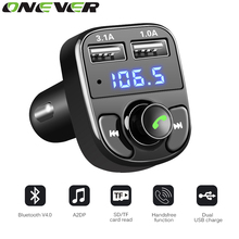 Super Bluetooth Car Kit Handsfree Set FM Transmitter MP3 music Player 5V 4.1A Dual USB Car charger Support Micro SD Card 1G-32G