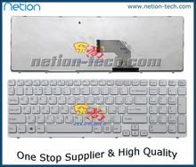 New RU Russian keyboard For SONY SVE 15 SVE-15 SVE15 SVE151Laptop White  Frame keybord