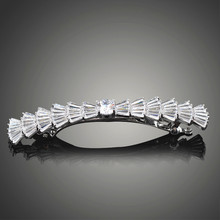 Very Nice Cut Sparking Cubic Zirconia Hair Clips for Women Exquisite Bride Wedding Accessories Joyeria F00017