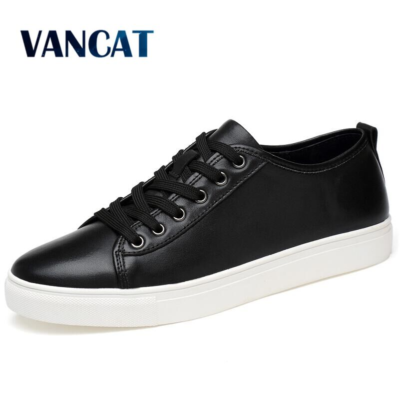 Big size New Mens Lace-up Casual Shoes High-quality Genuine leather Shoes Breathable Flat Shoes Sneakers zapatillas hombre<br>