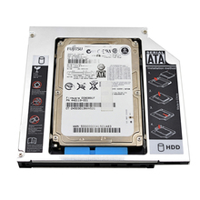 2017 New Universal Aluminum 2nd HDD Caddy 12.7mm SATA 3.0 for 2.5''7mm 9mm 9.5mm 12.5mm SSD HDD Case Enclosure DVD-ROM Optibay(China)