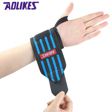 AOLIKES 1 Pair Wrist Support Straps Wraps For Weight Lifting Fitness Gym Sport Wristbands Hand Bands 3 Colors Training Necessary(China)