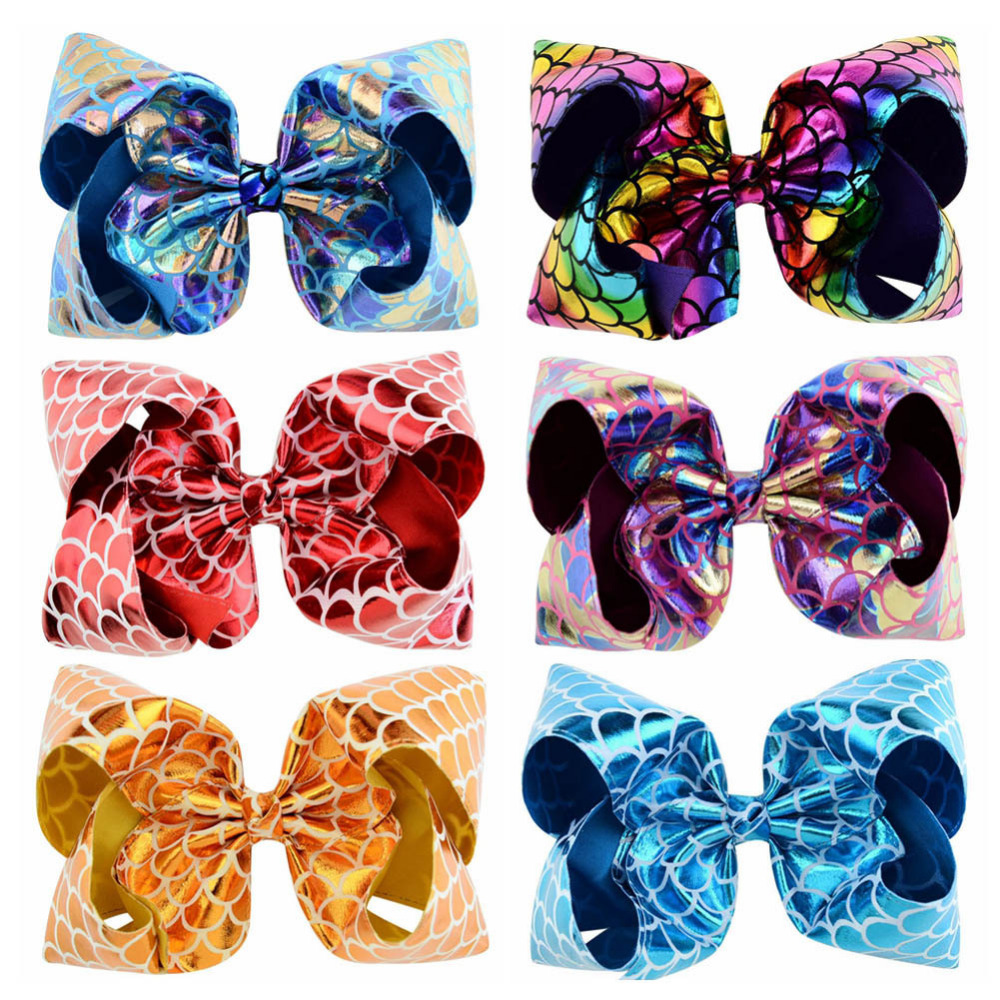 New 8 inch JoJo Siwa Large Hair Bow With Alligator Clip Girl Kids Bowknot