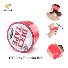 Electrostatic Tape DIY sexy Restraint Belt PVC Duct Tape Elastic Sticky Bondage Body Binding Sealing Tapes Fetish Sex Toy