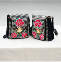 2017 New Embroidery All-match bags!Hot National Lady Shopping Small Shoulder&Crossbody bags Fashion Women canvas Hasp Carrier(China)