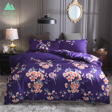 WAZIR Flowers Reactive printing bedding set 3pcs duvet cover set Pillowcases Home textile bedclothes comforter bedding sets(China)