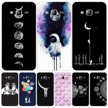 Space Love Moon Astronaut cover phone case for Samsung Galaxy J1 J2 J3 J5 J7 MINI ACE 2017 2016 2015