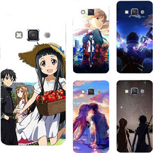 Hot Sale Sword Art Online SAO Anime Manga Hard PC Cover Case For Samsung Galaxy Grand 3 Max E5 E7 S3 Duos Neo Phone Printed Case