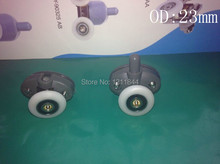 OD:25MM Shower pulley accessories old roller door crane wheel Double holes pulley(China)