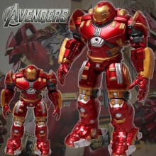 2015 Marvel The Avengers 2 Age of Ultron IRON MAN HULK BUSTER 14/17cm Light Action Figure Model Toy hulkbuster free shipping