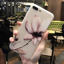 Buy Lotus floral Relief Cases iphone 7 7Plus 8 8plus Soft silicon Case iphone 6 6s 6splus 6Plus back cover Coque for $2.61 in AliExpress store