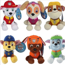 6 Pcs Set PAW PATROL Soft Plush Toy Marshall Rubble Chase Rocky Zuma Skye 12CM Party Supplies