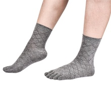 Men Business Socks Health Bamboo Charcoal Cotton Anti-odor Socks Breathable Toe Socks