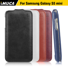 "IMUCA brand phone case for Samsung Galaxy S5 Mini S5Mini G800 4.5"" case cover leather flip cases phone accessories shell(China)"