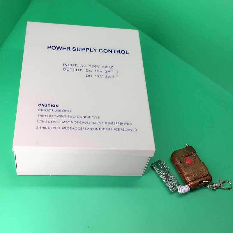 DC110~260v 12V5A Power Supply Controller for Access control +Wireless Remote Control<br>