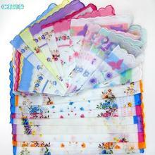 10 шт. домашний текстиль удобные платок Античная Цветочные вышитые шарф платок мятный(China)