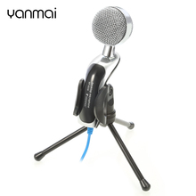 Yanmai SF-922B Wired Mic Studio Audio Sound Recording USB Microphone Condenser Microphone Stand for Computer Laptop(China)