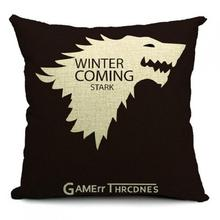 Free Shipping Custom 2017 New Home Decorative Cotton Linen Car Seat Sofa Pillow Game Of Thrones Cushion Wholesale