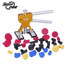 Super PDR Auto car body restore tool gold dent puller with 31pcs dent glue tabs use for Car Hail Damage And Door Dings Repair