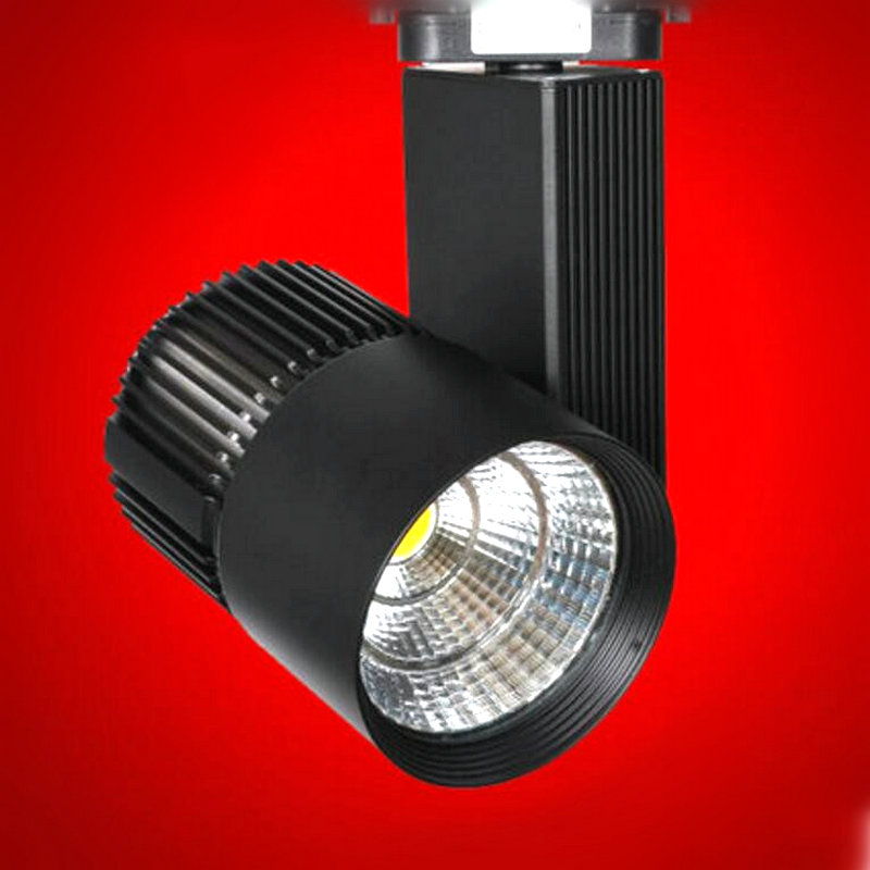 Free shipping 10pcs 30W LED track light spot for exhibition hall show room lighitng comply with traditional dimmer<br>
