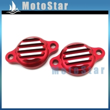 Alloy Tappet Valve Covers Caps For Lifan 125cc 140cc Engine Pit Dirt Monkey Bike Motorcycle SSR YCF YX Lifan CRF50 XR50 Red