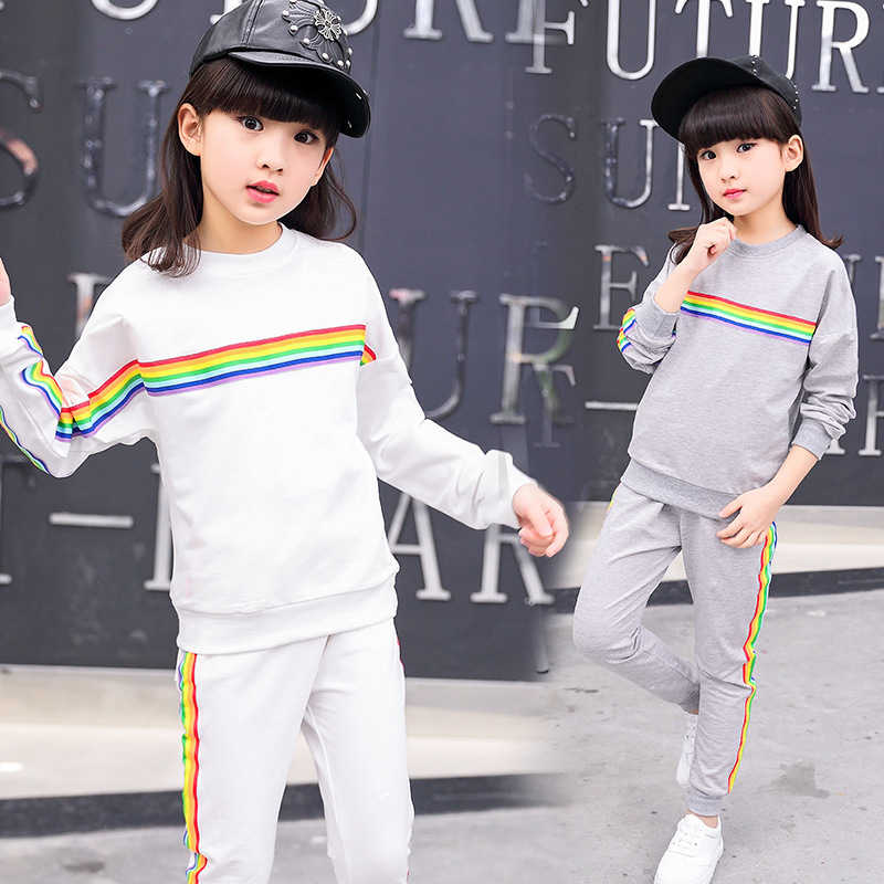 Children Childrens Garment Girl Spring And Suit New Pattern Motion Girl Two Pieces Clothes Kids Clothing Sets<br>