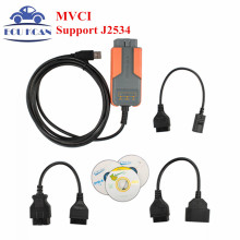 MVCI SCAN For Toyota for volvo MVCI Reprogramming OBD2 Interface 3IN1 OBDII For honda hds for volvo scanner 3 in 1 10.00.028(China)