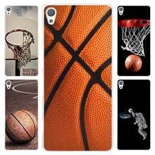 Hot Sale Basketball dark Clear Cover Case for Sony Xperia Z1 Z2 Z3 Z4 Z5 M4 Aqua M5 XA XZ C4 E5 l36h