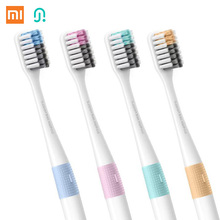 4pcs/ lot Xiaomi New Brand Doctor B Bass Method Travel Soft Bristle Toothbrush 4 Colors 4 Pcs /set Include Travel Box