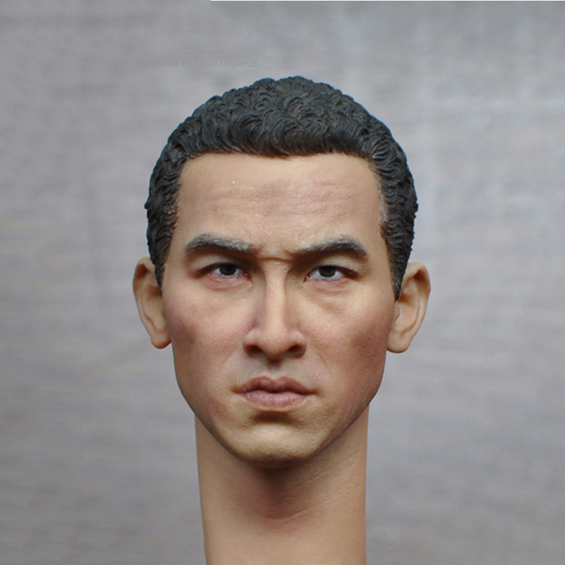 1/6 Scale Asian Mens Head Sculpt for 12 Inches Male Bodies Figures Dolls<br>