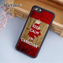 MaiYaCa Canada Flag Keep Calm I'm Canadian fashion soft mobile cell Phone Case Cover For iPhone 5 5S SE Custom DIY cases luxury(China)