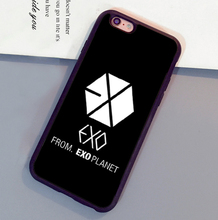 Exo Kpop Band  popular star Style Mobile Phone Cases Bags For iPhone 6 6S Plus 7 7 Plus 5 5S 5C SE 4S Soft Rubber Back Cover
